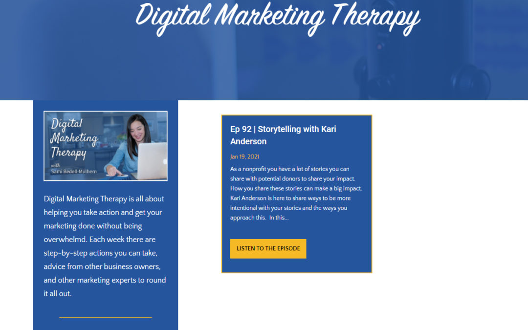 Talking with Sami from The First Click on the Digital Marketing Therapy podcast